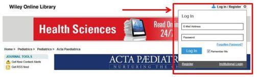 Acta Paediatrica app login